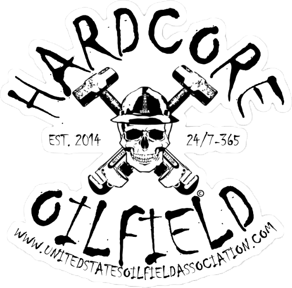 594x586 Hardcore Oilfield Hard Hat Sticker United States Oilfield