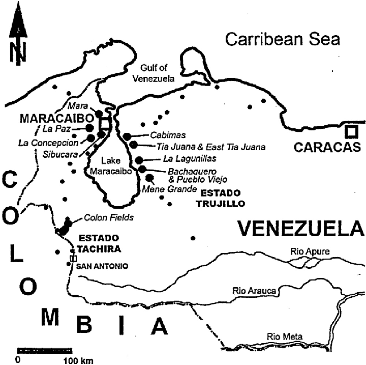 720x717 Venezuela Oilfield Location Map.