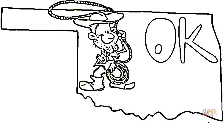 750x415 Oklahoma Map Coloring Page Free Printable Coloring Pages