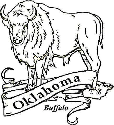 436x480 Buffalo Oklahoma Coloring Page Free Printable Coloring Pages