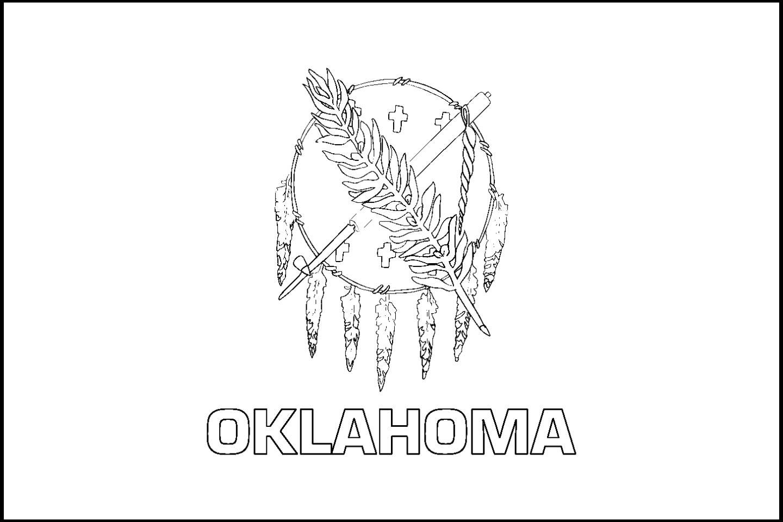 1440x960 Oklahoma State Flag