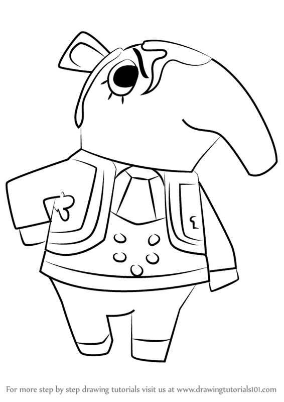 566x800 Learn How To Draw Olaf From Animal Crossing (Animal Crossing) Step