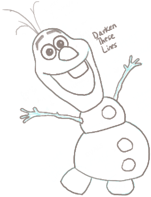 508x664 How To Draw Olaf The Snowman From Frozen With Easy Steps Tutorial