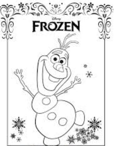 Olaf Drawing Tutorial