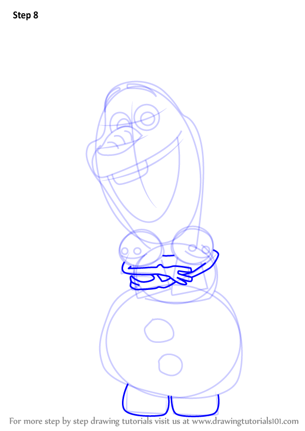 600x846 Learn How To Draw Olaf From Frozen Fever (Frozen Fever) Step By