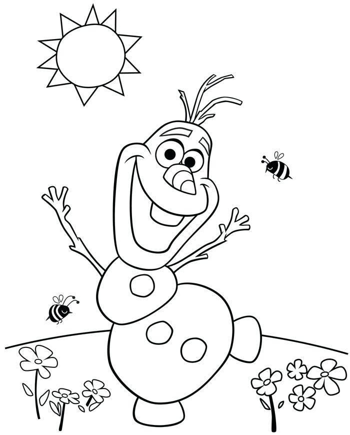 700x869 Frozen Olaf Coloring Pages In Addition To Frozen Coloring Pages
