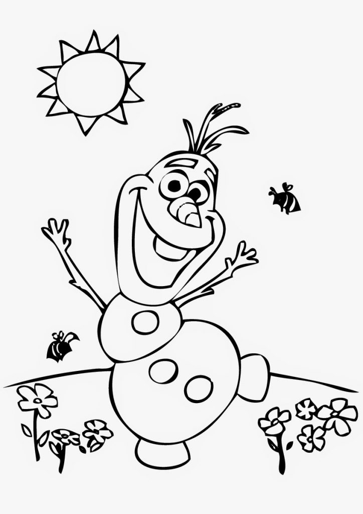 724x1024 Olaf From Frozen Coloring Page Free Printable For Kids Cartoons