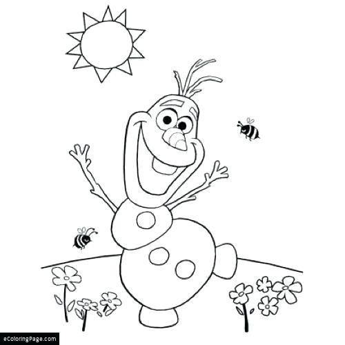 500x500 Coloring Pages Frozen Olaf Medium Size Of