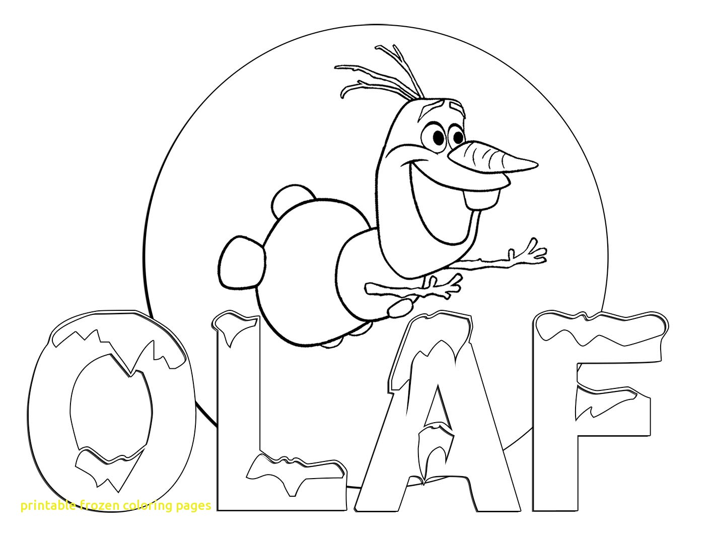 1414x1060 Printable Frozen Coloring Pages With Olaf The Snowman From Frozen