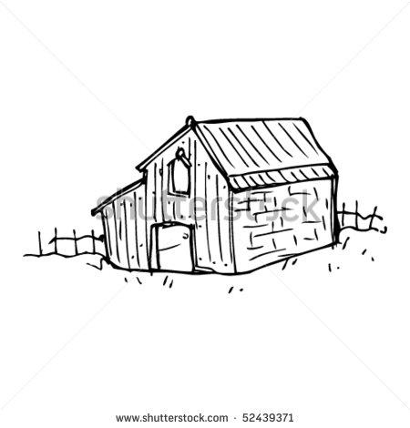 450x470 Old Barn Clipart
