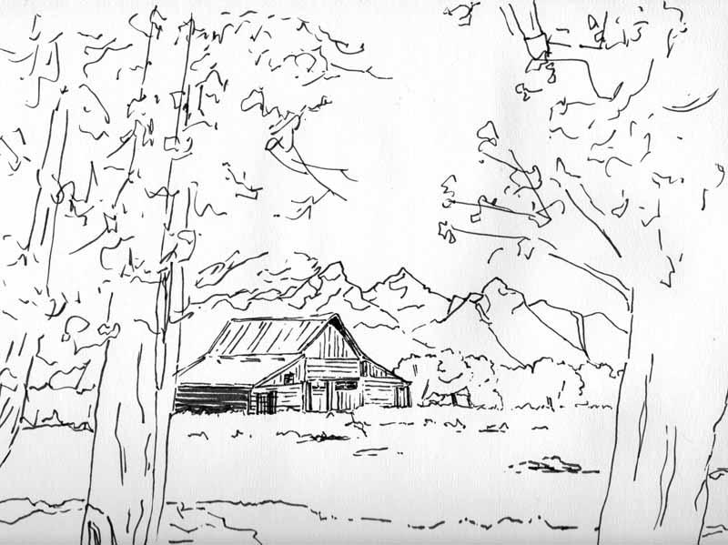 800x599 Wde 4 Jan. Old Barn Scene Poss. Mi