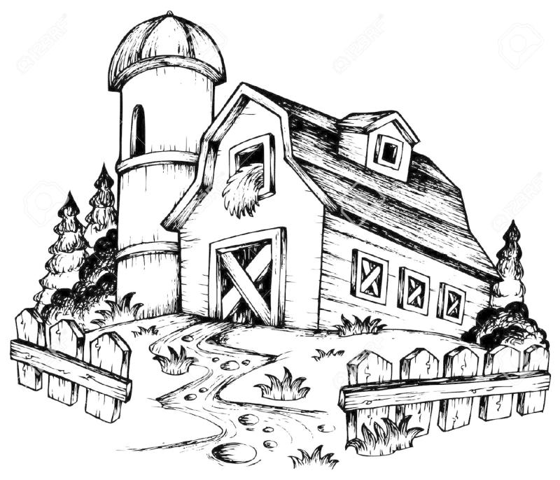 800x686 Old Barn Clipart