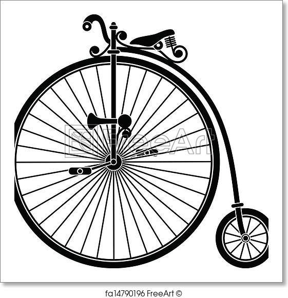 561x581 Free Art Print Of Vintage Bicycle. Vintage Penny Farthing Big