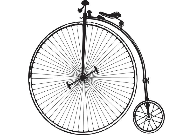800x560 Old Fashioned Bicycle Vector Free Vector Art