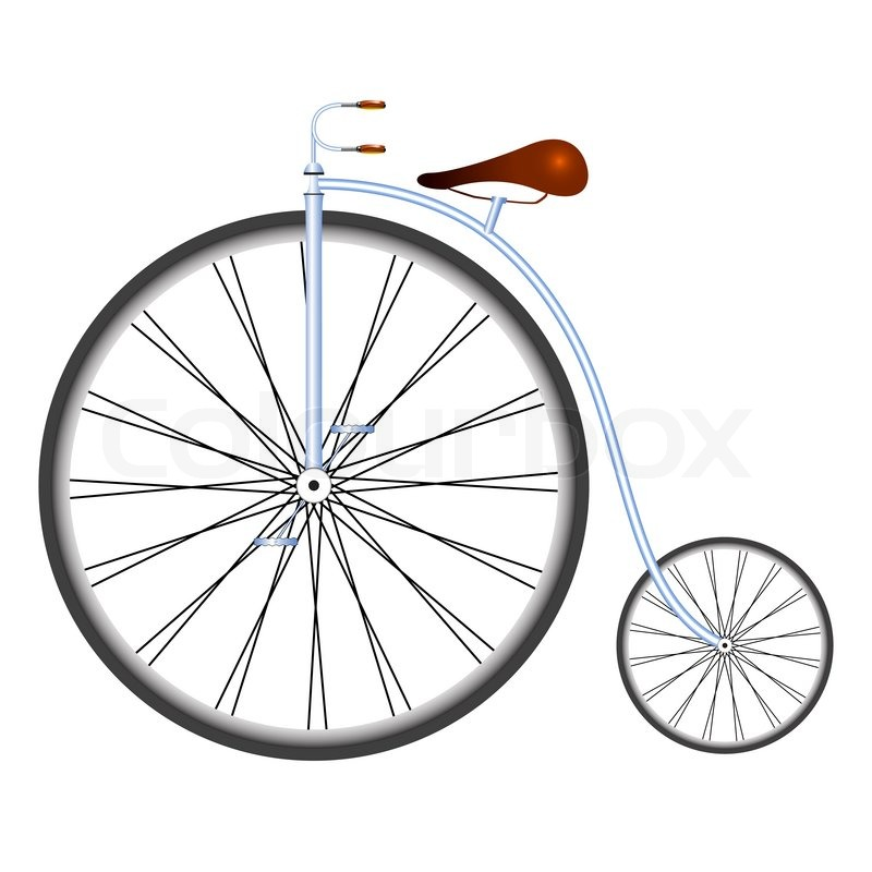 800x800 Old Bicycle, Abstract Art Illustration Stock Photo Colourbox
