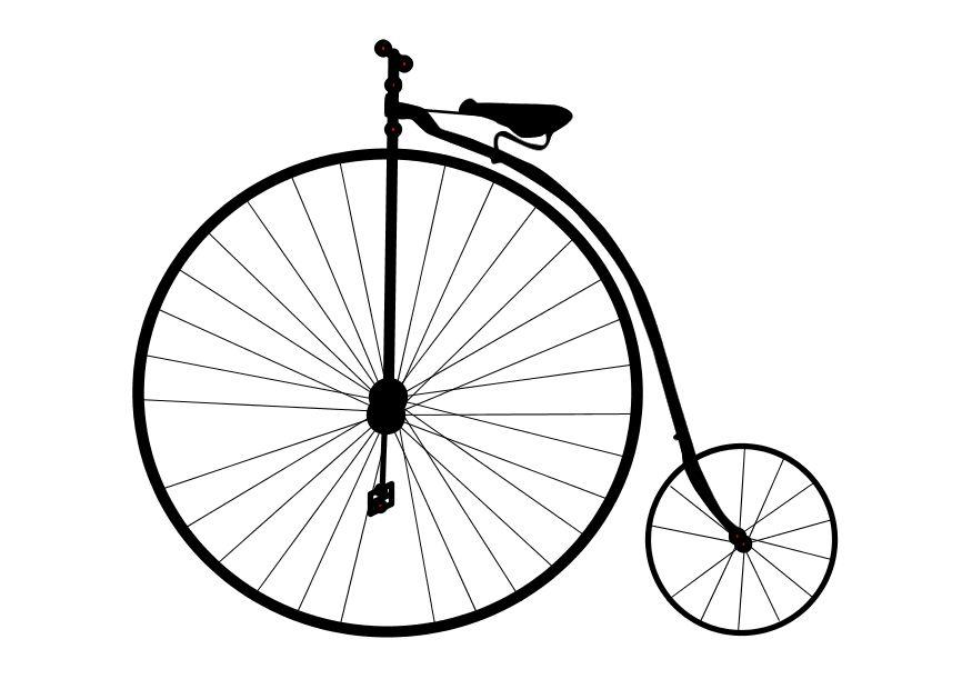 875x620 Coloring Page Old Bicycle
