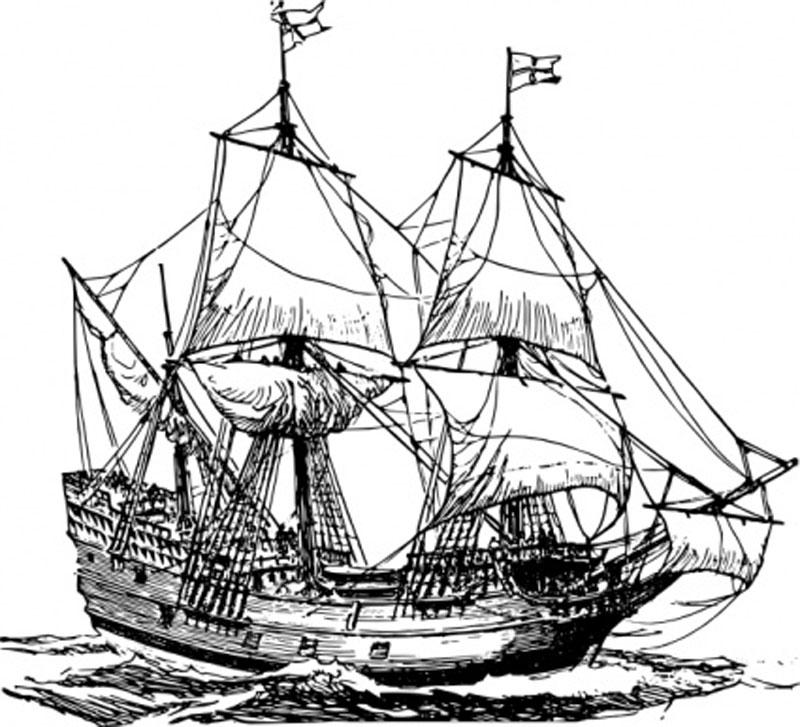 800x727 Carrack Long Range Cargo Sailing Ship
