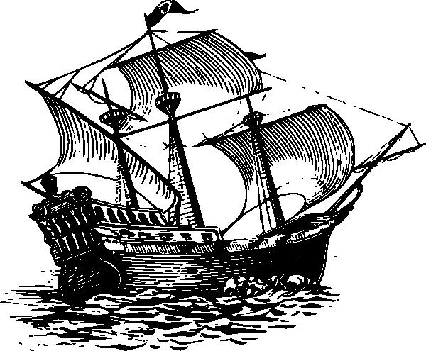 600x495 Galleon Sail Ship Clip Art