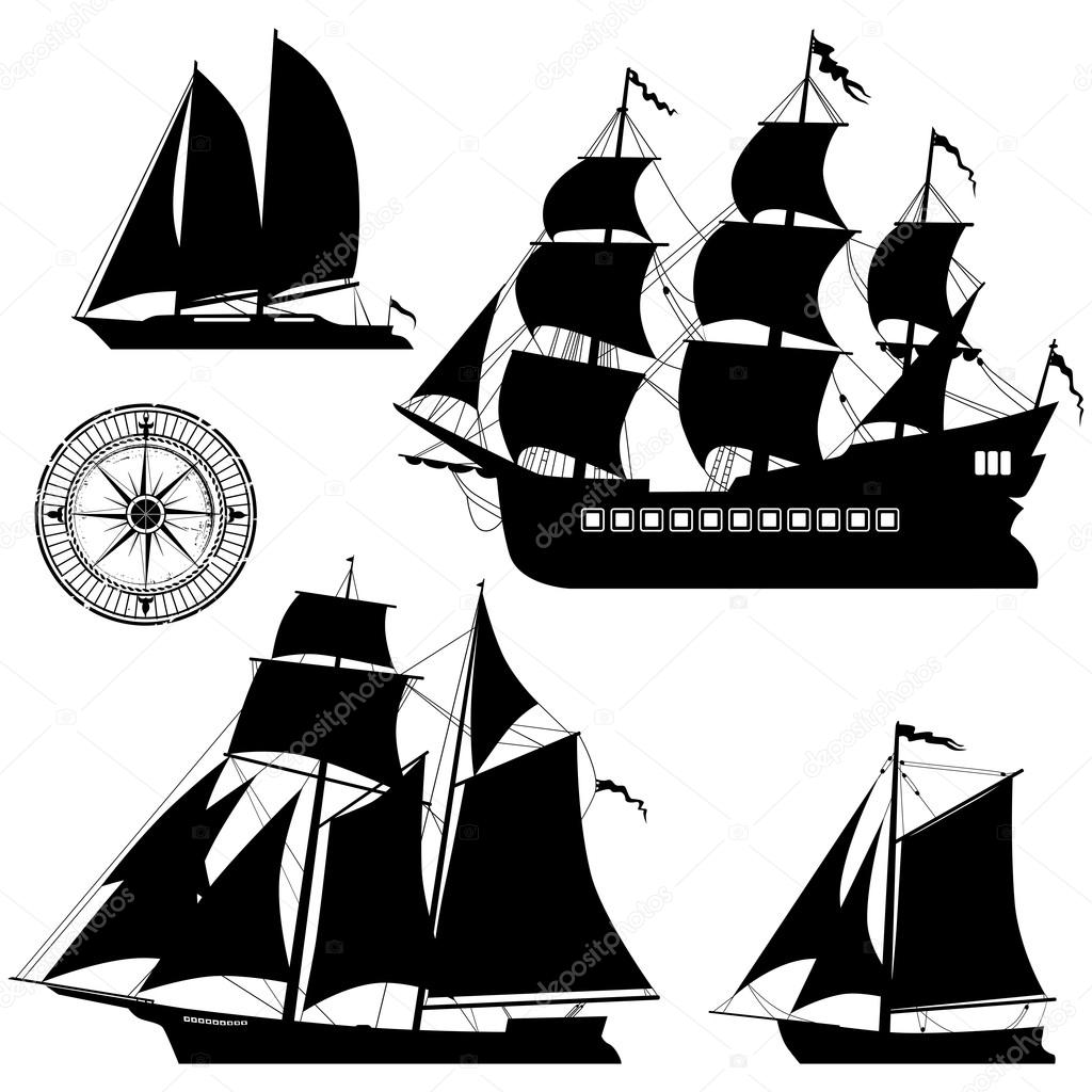 1024x1024 Yacht And Old Pirate Ships