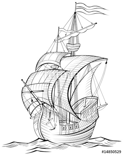 398x500 Old Sailing Boat Stock Image And Royalty Free Vector Files