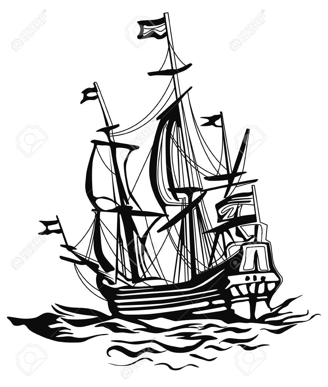 1103x1300 An Old Sailing Boat Stock Photo, Picture And Royalty Free Image