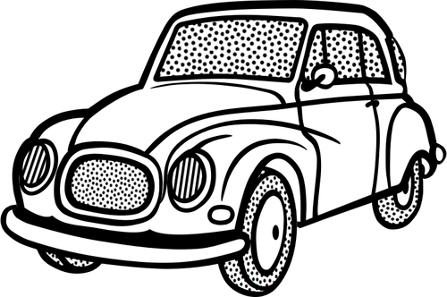 500x332 Line Art Vector Image Of Old Car Public Domain Vectors