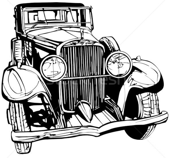 600x551 Old Car Vector Illustration Isabel Da Silva Azevedo (Isaxar