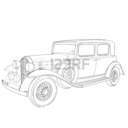 450x450 Illustration Set Vintage French Cars Stock Photo, Picture