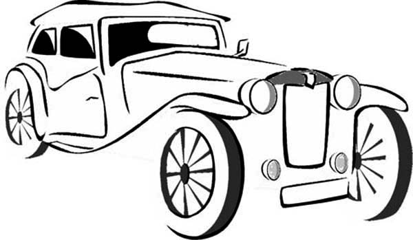 600x349 Old Car Painting Coloring Page Coloring Sky