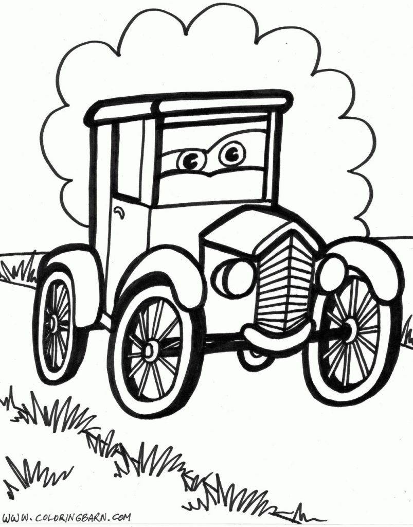803x1024 Old Fashioned Cars Coloring Pages Best Of Classic Car Coloring