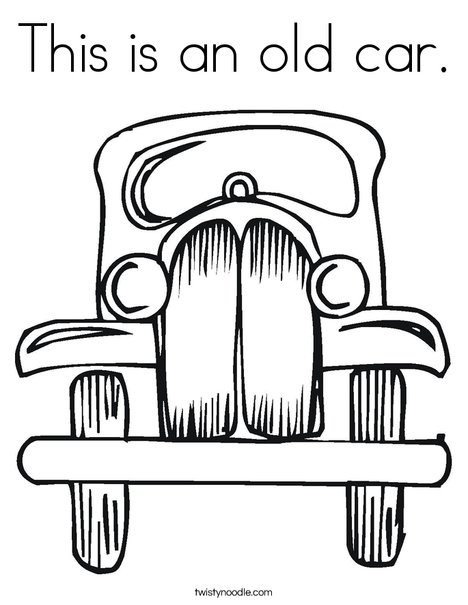 468x605 This Is An Old Car Coloring Page