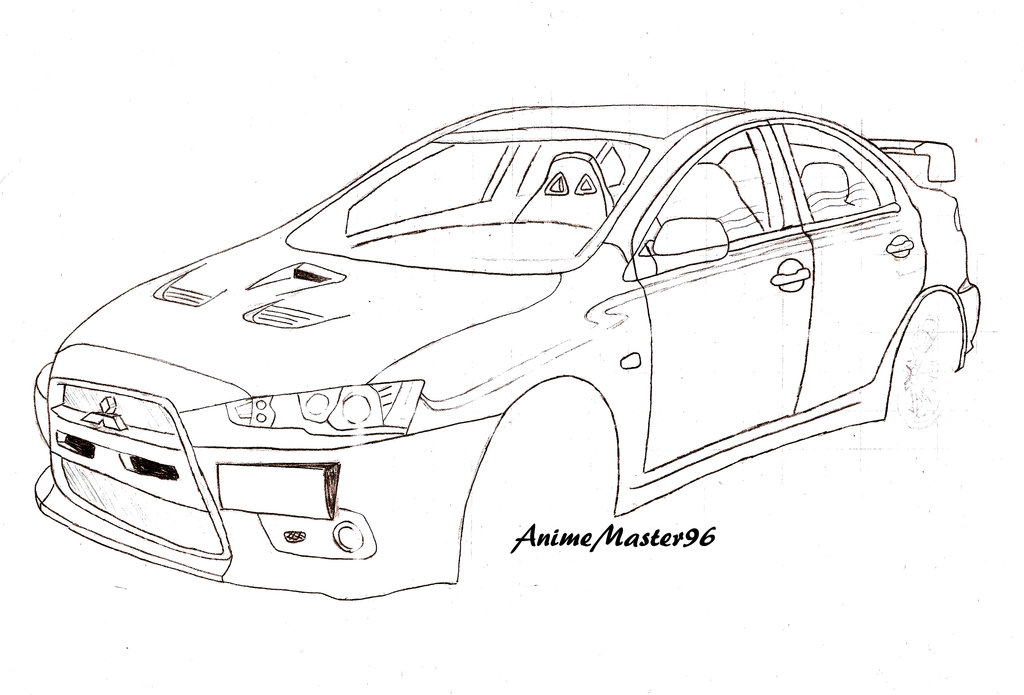 1024x695 Car (Old Drawing 2012) By Anime Master 96