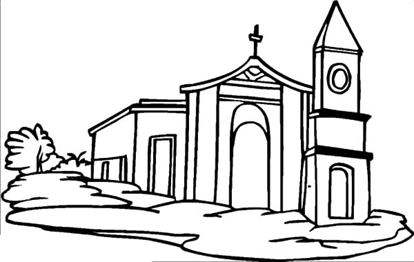 600x380 How To Draw Church Coloring Pages Best Place To Color