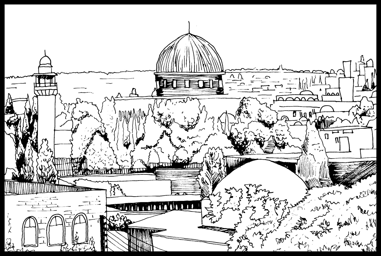 1238x831 Pencil Drawings Pencil Drawings In Old Jerusalem