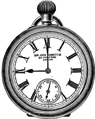 Old Clock Drawing
