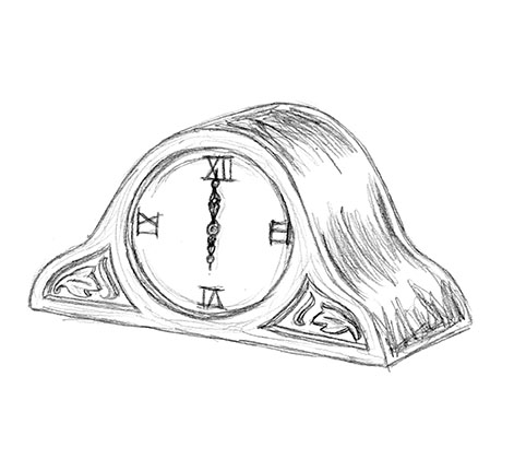 Old Clock Drawing at GetDrawings com | Free for personal use