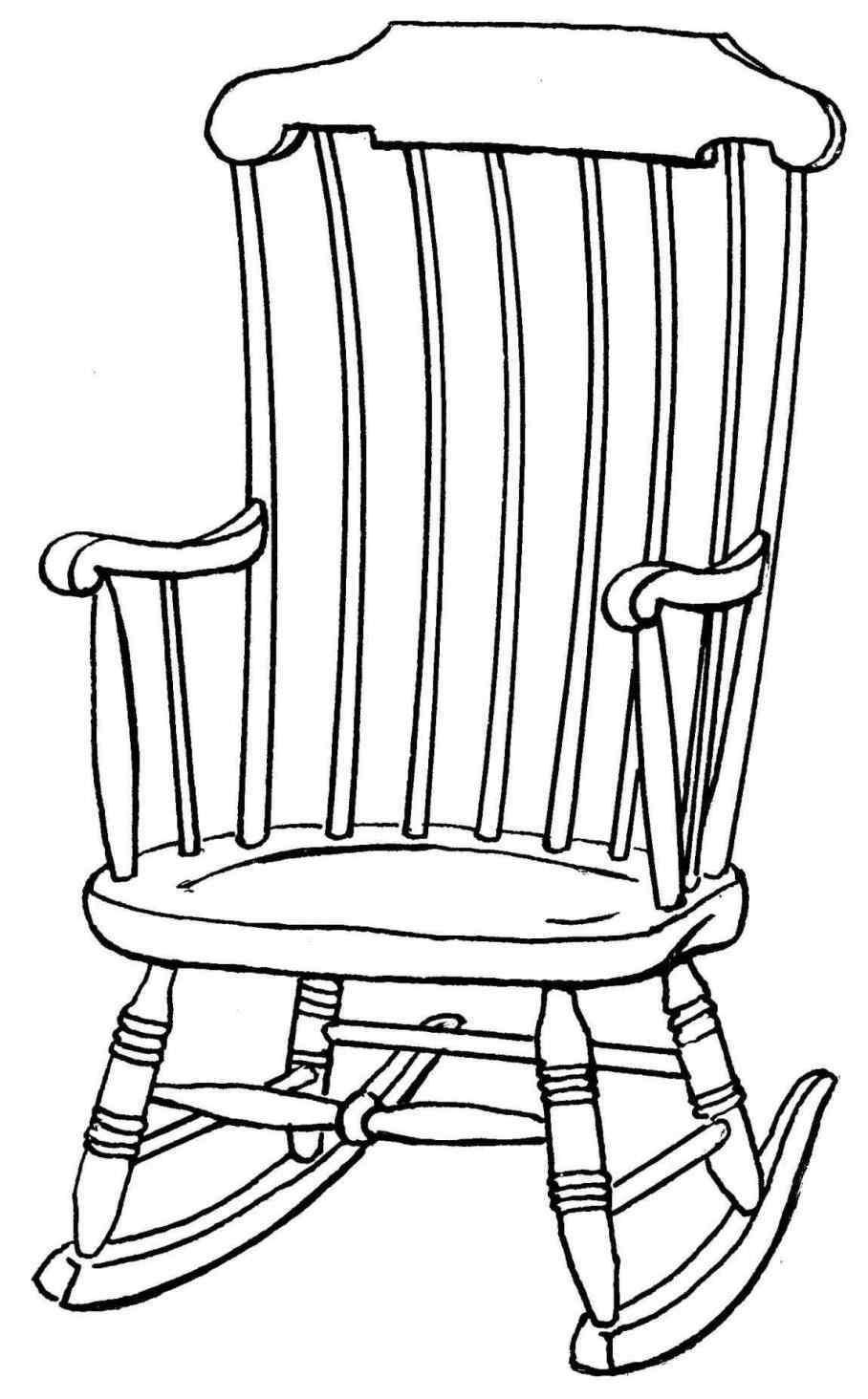 908x1464 Old Rocking Chair Drawing Mayamokacomm