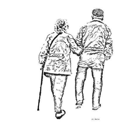 Old Couple Drawing