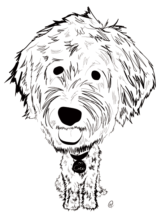 520x700 Charity Pups Dog Illustrations For Good