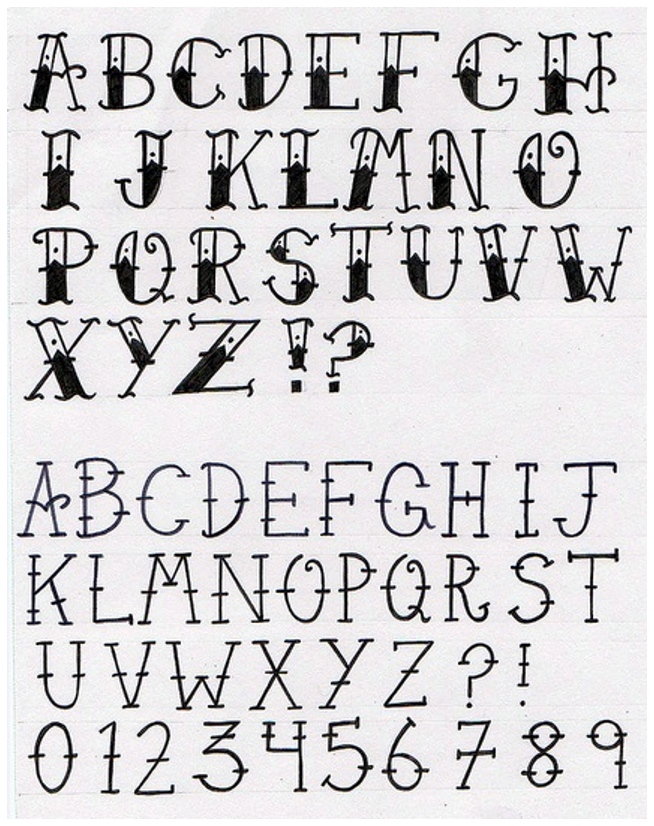 654x826 Drawn Lettering Old
