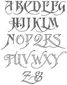 Old English Letters Drawing At Getdrawings Com Free For Personal