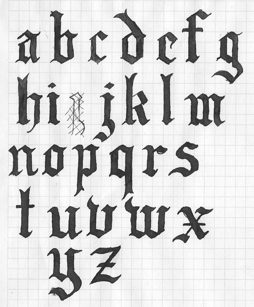 Old english letters drawing at getdrawings free for personal 813x983 old english letters 2 by kaitolady on deviantart thecheapjerseys Images
