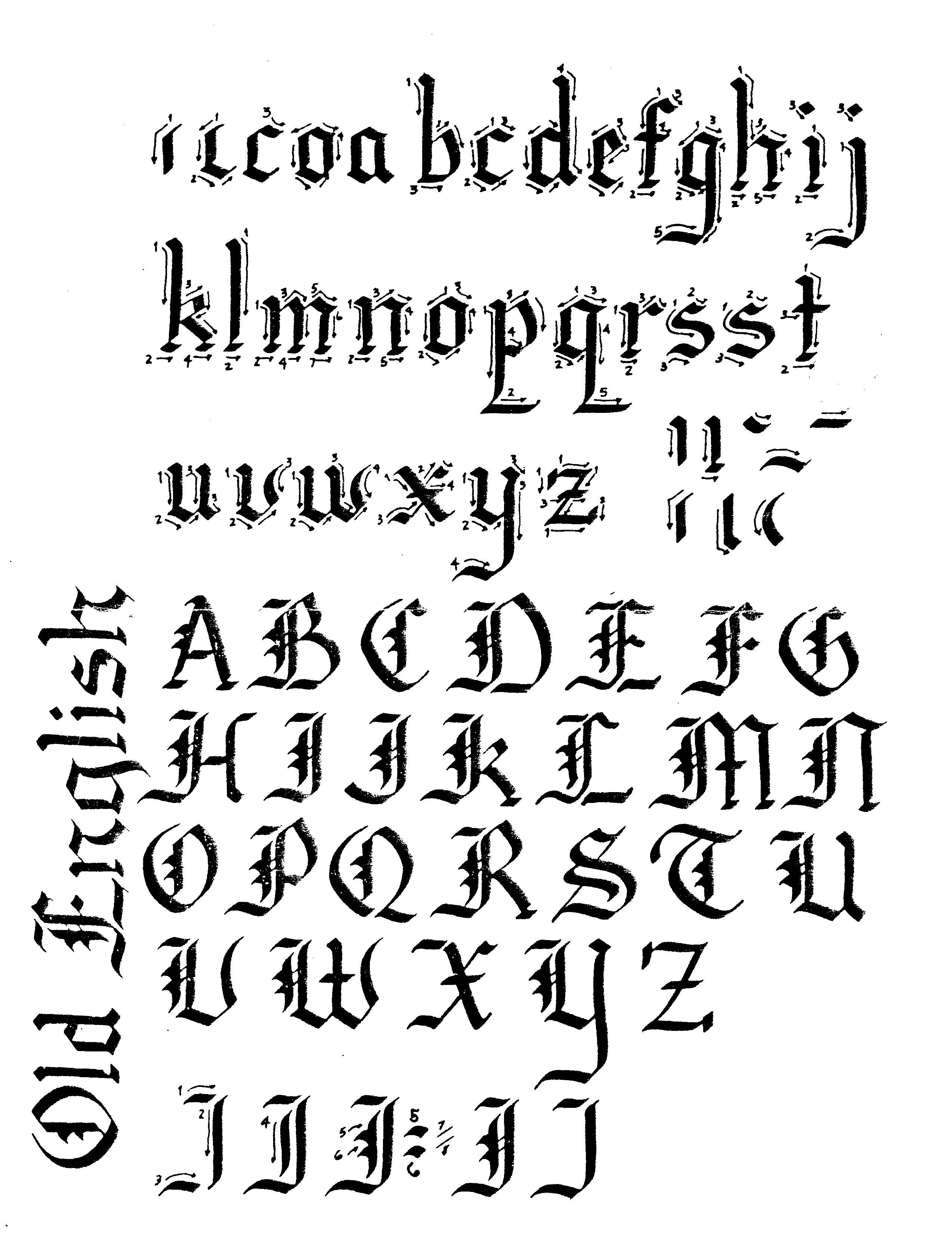 2548x3308 Old English Style Art Letters Lettering