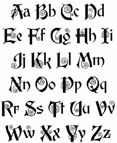 489x600 Celtic Lettering Old English Lettering Tattoos Art Pictures