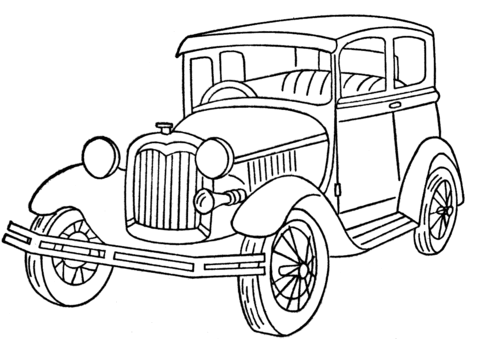480x339 Ford Model A Coloring Page Free Printable Coloring Pages