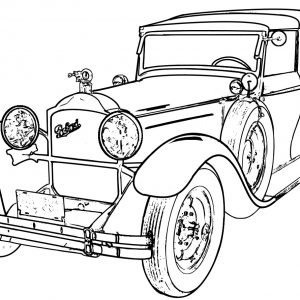 300x300 Old Fashioned Cars Coloring Pages Copy Muscle Car 70 Old Sport Car
