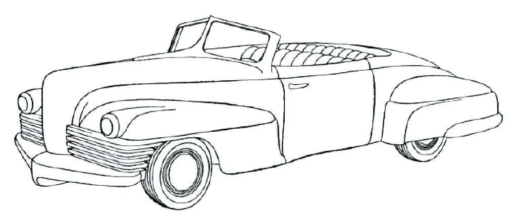 1024x420 Classic Car Coloring Pages 27 Together With Classic Muscle Car
