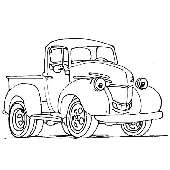 Old Ford Truck Drawing At Getdrawings Com