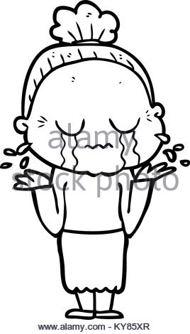 268x470 Cartoon Crying Old Lady Stock Vector Art Amp Illustration, Vector