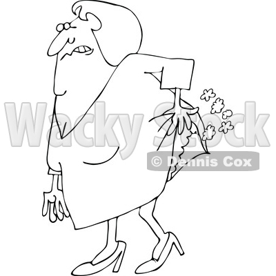 400x400 Of An Outlined Old Lady Passing Gas